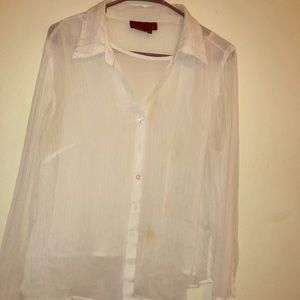 White sheer camisole and blouse